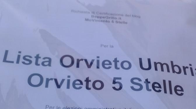 "Depositata la lista civica ""Orvieto 5 Stelle"""