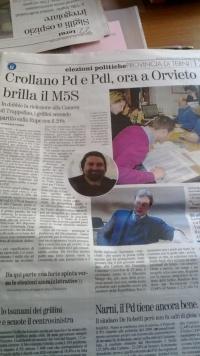 Vittoria Elettorale M5S Orvieto