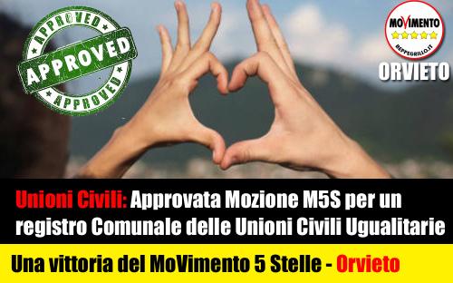 Finalmente Unioni Civili Ugualitarie sono realtà grazie al M5S