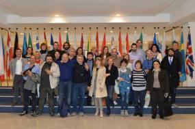 Portavoce ed Attivisti dell'Umbria a fare per una volta una cosa frivola: la foto dove la fanno i presidenti d'Europa.