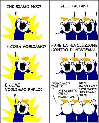 italiani e rivoluzione contro il sistema