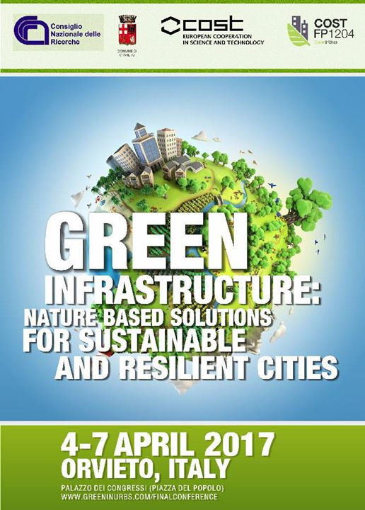 GreenInUrbs Orvieto 2017 – Green infrastructure, nature based solutions for sustainable and resilient cities