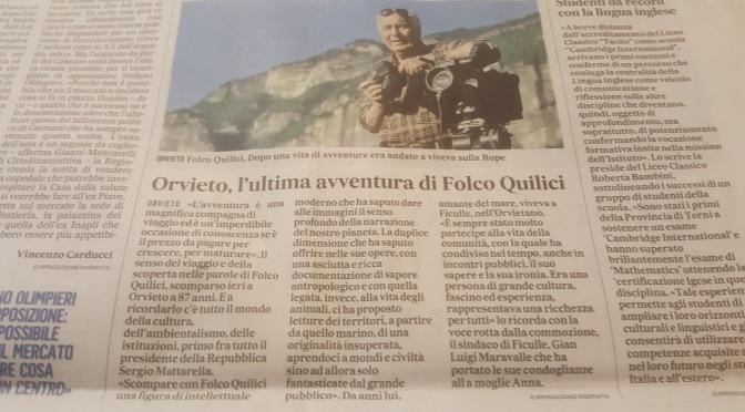 Addio a Folco Quilici