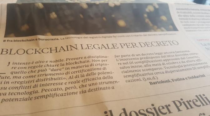 Blockchain certificate?