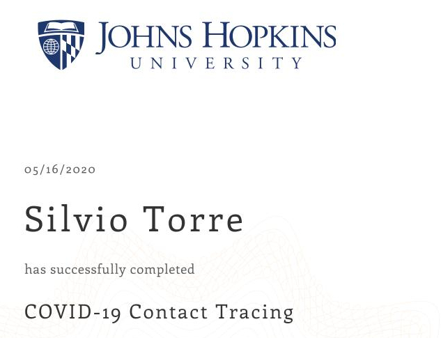COVID-19 Contact Tracing by Johns Hopkins University GWKKX2VXL4QU