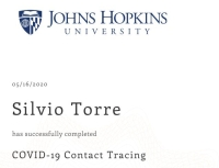 COVID-19 Contact Tracing by Johns Hopkins University GWKKX2VXL4QU